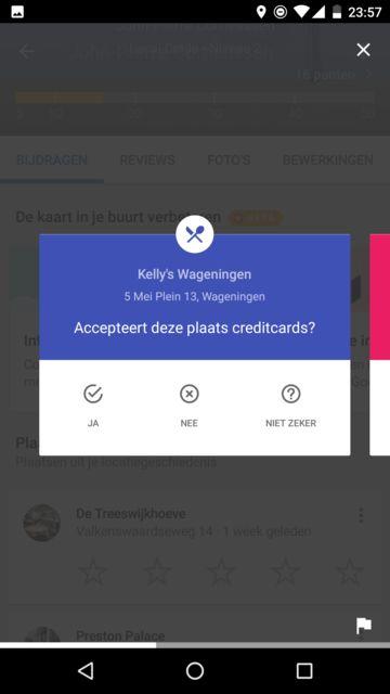 Accepteert deze plaats creditcards