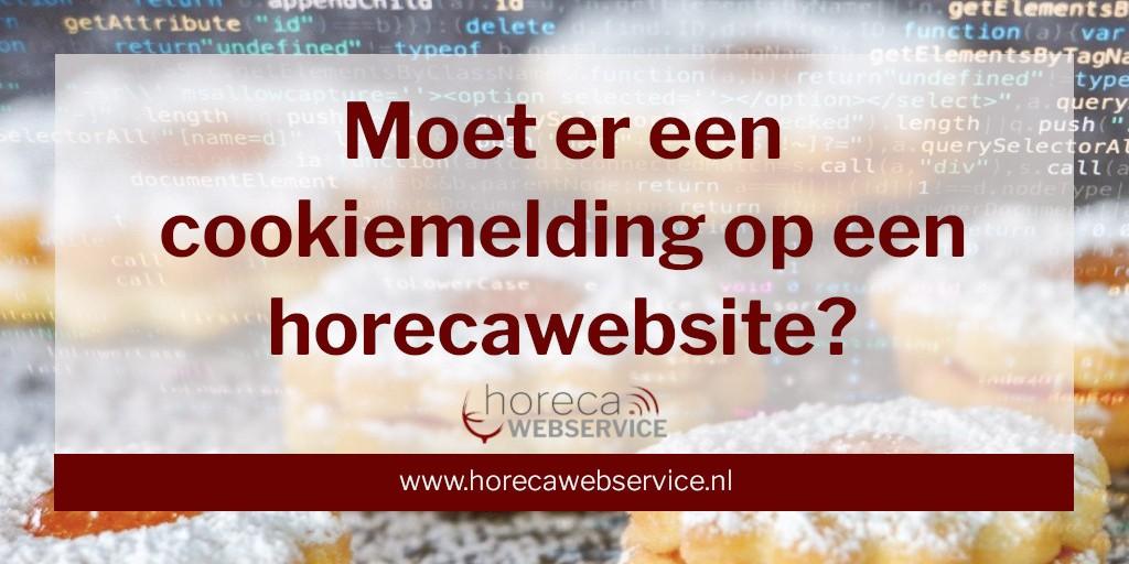 """Tekst: """"Moet er een cookiemelding op een horecawebsite?"""" op een foto met Cookies en computer data van NickyPe (Pixabay) en Markus Spiske (Pexels)"""