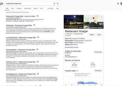 Google Bedrijfsinformatie Details