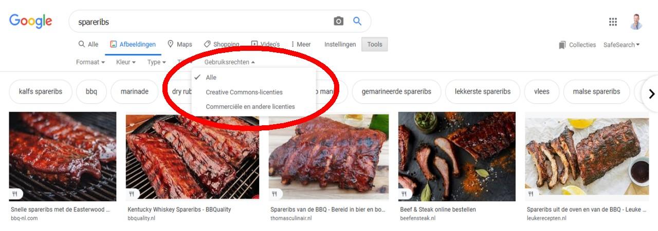 Gratis foto's zoeken met Google afbeeldingen