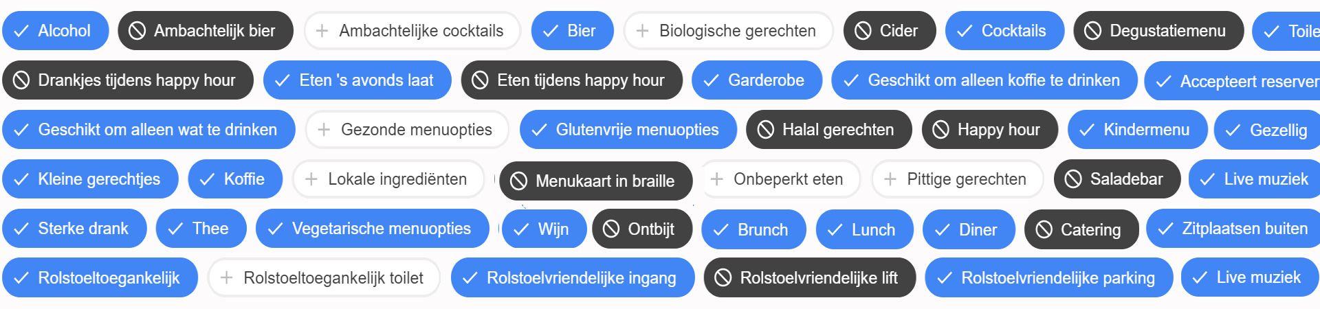 Google kenmerken die de vindbaarheid van jouw zaak verbeteren