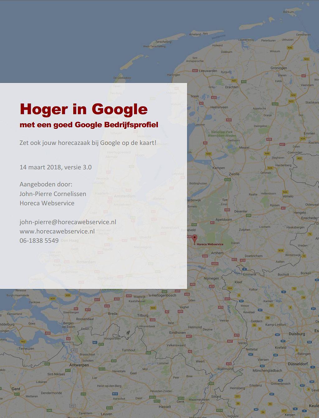 Hoger in Google met een goed Google Bedrijfsprofiel ebook cover