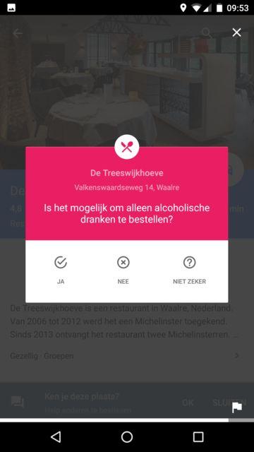 Is het mogelijk om alleen alcoholische dranken te bestellen