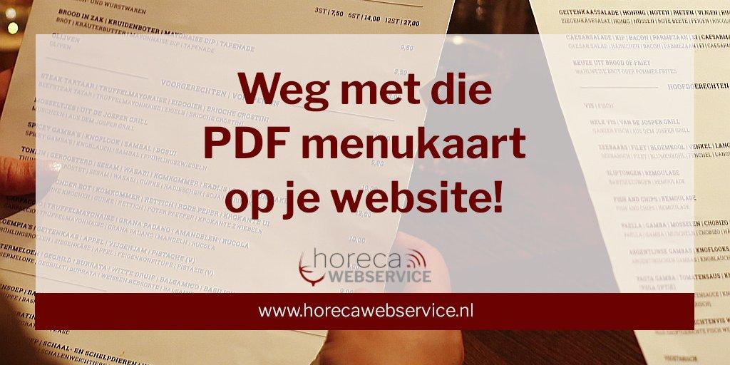 Weg met die PDF menukaart op je website