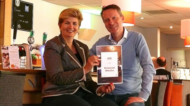 Esther Borggreve van Queen of Hearts en John-Pierre Cornelissen van Horeca Webservice