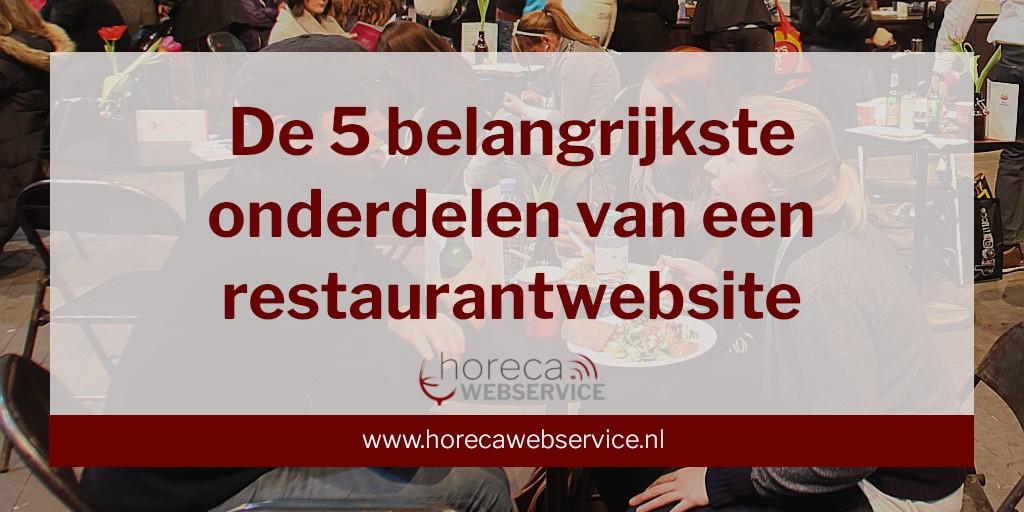 De belangrijkste onderdelen van een restaurantwebsite