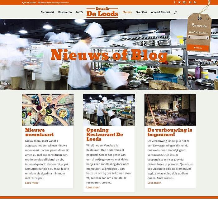 restaurant blog en nieuws module